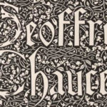 Detail of Chaucer book