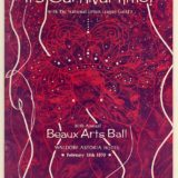 Cover image in purple and dark pink of the 1970 National Urban League's Beaux Art Ball.