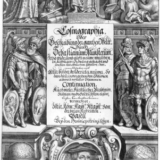 Frontispiece for a 1628 edition of Cosmographia