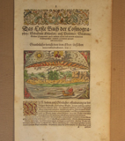 Frontispiece for a 1600 edition of Cosmographia