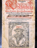 Frontispiece for a 1598 edition of Cosmographia