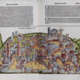 Image of the destruction of Jerusalem from Liber chronicarum, or the Nuremberg Chronicle