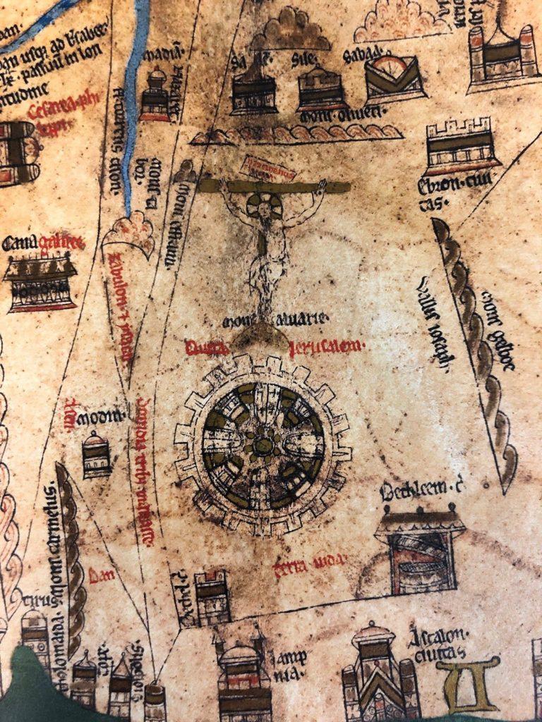 Detail of Jerusalem on the Hereford Mappa Mundi