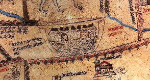 Noah's Ark, as seen on the Hereford Mappa Mundi
