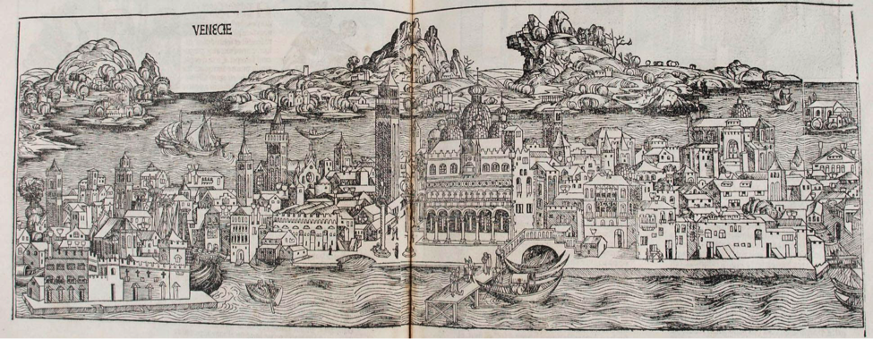 Map of Venice from Liber chronicarum, or the Nuremberg Chronicle