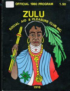 1980 Zulu Social Aid and Pleasure Club Program