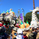 Float in the Rex Mardi Gras Parade in New Orleans Tuesday February 9, 2016
