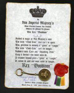 Rex Carnival Krewe keepsake Doubloon 1962