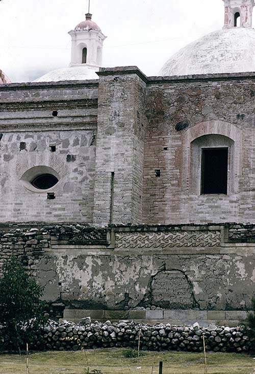 South Exterior Wall with Colonial Church Built on Top