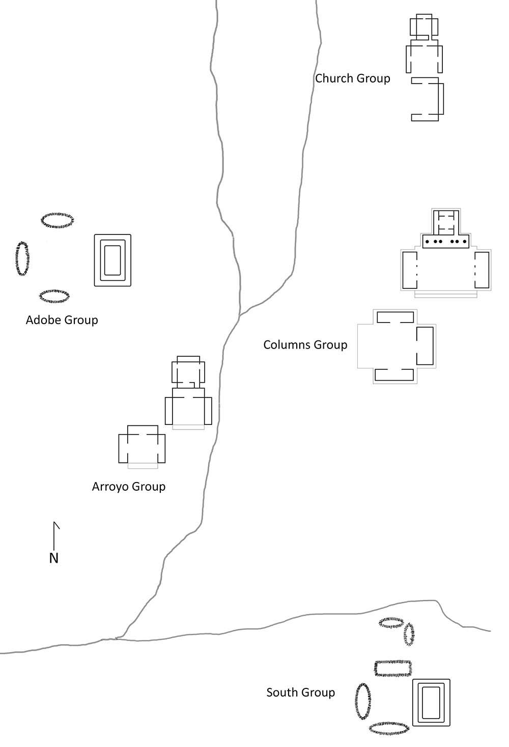 Mitla Site Map
