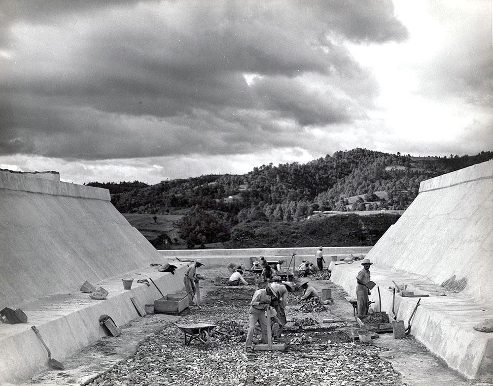 Excavation of ballcourt